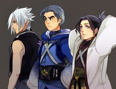 Young Masters by ROSEL-D on DeviantArt>>>>>wait who's the dude in the middle? Is that Yensid? Dang he hawt