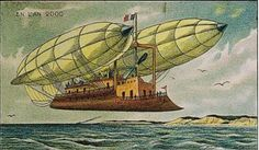 illustrations from 1910 that show how the artists imagined 2012 would look