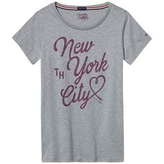 Schönes Loungewear-Basic: T-Shirt mit kontrastfarbenem Print und Logostitching am linken Ärmel.100% Baumwolle...
