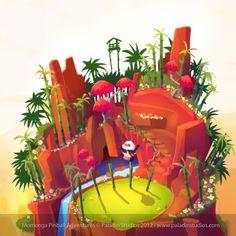 Panda's Challenge Concept Art #Game #Design #Leveldesign #MomongaPinballAdventures #Conceptart