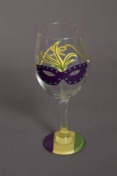 c64c4079128 Mardi Gras Wine Glasses - Set of 4