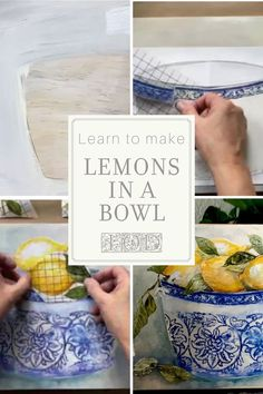 Learn how to make a Lemons in a Bowl wall art with the IOD Sisters in this step-by- step video eCourse for crafters and creative makers. Diy Furniture Projects, Diy Home Decor Projects, Craft Projects, Decor Crafts, Project Ideas, Rustic Wall Art, Diy Wall Art, Wall Decor, Orchard Design