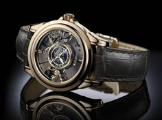 This is Omega's most complicated and expensive watch currently on the market:Omega De Ville Tourbillon