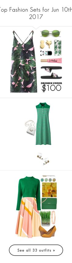 """""""Top Fashion Sets for Jun 10th, 2017"""" by polyvore ❤ liked on Polyvore featuring WithChic, Seoul Little, Alberta Ferretti, Ray-Ban, Too Faced Cosmetics, Casetify, Tony Moly, Tahari, Lands' End and under100"""