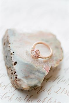 Rose gold ring with pink diamonds: http://www.stylemepretty.com/little-black-book-blog/2015/04/17/bohemian-desert-boudoir-session/ | Photography: Tamara Gruner - http://www.tamaragruner.com/ Brian Gavin Diamonds/Nib and Pixel Calligraphy/Belle Soul Weddings Styling