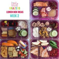 Lunch Box Ideas – Week 2 Here is the week 2 installment of Lunch box ideas from Little Grazers I use the awesome Yumbox Leakproof Bento Lunch Box Container (Bijoux Purple) for Baby Lunch Box, Bento Box Lunch For Kids, Lunch Ideas, Healthy Foods To Eat, Healthy Recipes, Delicious Recipes, Healthy Lunches, Work Lunches, School Lunches