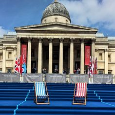#anywheredeckchairs #VEDay70 #london #trafalagarsquare  Picture courtesy of JR Event Services Ltd