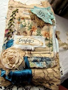 fabulous multi-layered textures and textiles...journal cover
