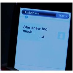 A's Messages in Season 3 | Pll quotes, Messages and Texts