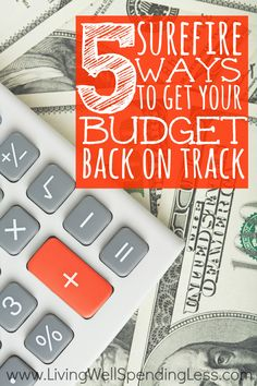 Spend too much over the holidays? It's not too late to turn things around! Don't miss these 5 surefire ways to get your budget right back on track for the New Year!