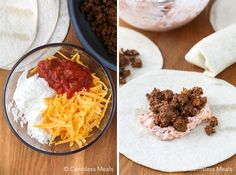 Taco Pockets, Cheesy Chicken Enchiladas, Cheese Ingredients, Mexican Food Recipes, Ethnic Recipes, Hamburger Recipes, Ethnic Food, Great Appetizers, Cheese Soup