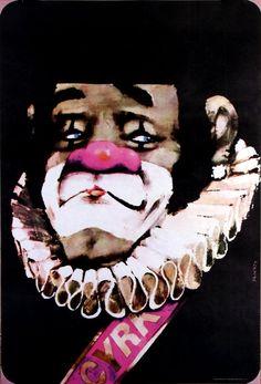 Circus - Clown, designer: Waldemar Świerzy year: 1972 /1978 (print)