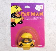 Vintage Pac Man Wind-Up, Pac Man Toy..I STILL HAVE THIS! ~