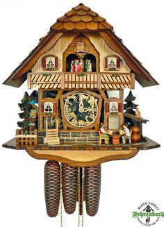 8 Day Cuckoo Clock - Modern Chalet with Glass Front - Schneider
