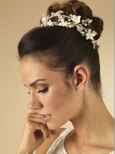 Entiwned floral Hair Vine by Arianna Tiaras - Arianna Tiaras