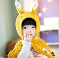 Cheap baby hat, Buy Quality winter baby hat directly from China toddler bonnet Suppliers: Winter Baby Hat Cute Rabbit Newborn Baby Boys Girls Cap Knitted Bebes Hats fotografia Toddler Bonnet touca de inverno sombrero Kids Winter Hats, Kids Hats, School Bags For Kids, Wraps, Kids Online, Baby Boy Newborn, Baby Girls, Cartoon Kids, Baby Knitting