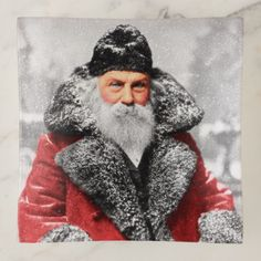 Vintage Santa Claus Photo / Painting Trinket Trays gift ideas for dads christmas from daughter birthday free printables kids baby photo diy adult son who has everything last minute sentimental homemade father Santa Claus Story, Santa Claus Photos, Vintage Santa Claus, Vintage Santas, Christmas Clipart Free, Steampunk, Santa Head, Diy Adult, Graphics Fairy