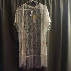 NWT LF lace kimono Brand new with tags, off white/cream color. NO TRADES LF Other