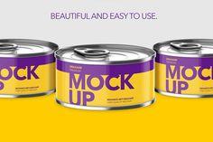 Fish Can Mockup - Hight Angle by Graxaim Mock-up on @creativemarket