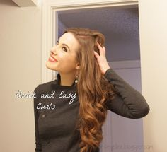 Ellee: Tutorial: Easy and Quick Curls