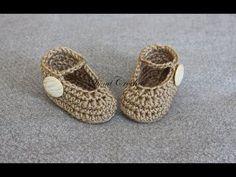 Sandálky bez zapínania- návod pre začiatočníkov - YouTube Balerina, Crochet Baby Booties, Baby Shoes, Kids, Youtube, Socks, Fashion, Shoes, Bedspreads