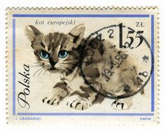 Vintage Postage Stamp from Poland.