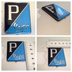 Badge Vespa P/ Brand New Coated Resin #BADGEVESPA