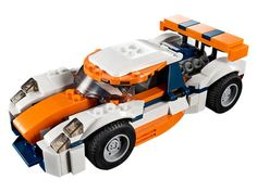 Sunset Track Racer 31089 | Creator 3-in-1 | Buy online at the Official LEGO® Shop CA Shop Lego, Lego Store, Buy Lego, Lego Creator, The Creator, Toy Playhouse, Classic Race Cars, Blue Color Schemes, Dark Blue Color