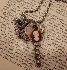 Vintage keys  jewelry necklace