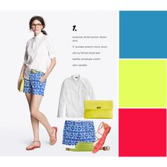 Love this color combo, fresh and bright. #jcrew