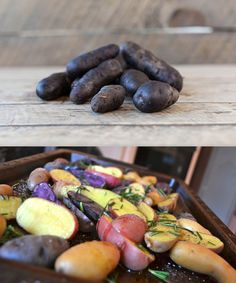Roasted fingerling potatoes, Fingerling potatoes and Brussels sprouts ...