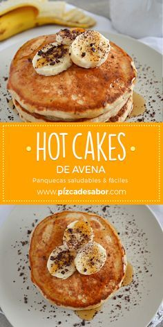 Hot oatmeal cakes (healthy & easy pancakes)-Hot cakes de avena (panquecas saludables & fáciles) Hot oatmeal cakes (healthy and easy-to-make pancakes) - Healthy Recipes, Healthy Breakfast Recipes, Gourmet Recipes, Healthy Snacks, Snacks Saludables, Snacks Sains, No Bake Snacks, Easy Cooking, Clean Eating Snacks