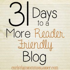 Organize Your Blog Categories {31 Days to a More Reader-Friendly Blog} - Christian Mommy Blogger