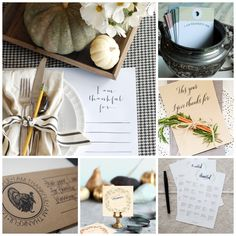 Thanksgiving & Friendsgiving Free Printables