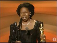 Beautiful moment for a beautiful person - Whoopi Goldberg winning the Oscar for Best Supporting Actress for her role in Ghost / video