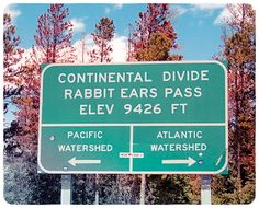 Continental Divide at Rabbit Ears Pass in Colorado. I took  my grandsons here and they walked the line.....cool