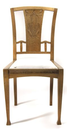 JOSEPH MARIA OLBRICH carved oak side chair, c. 1902