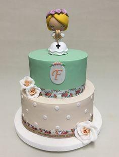 Communion Vintage Cake  Violeta Glace