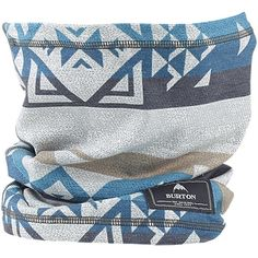 Burton Dr. Wool Neck Warmer: Stout White Banded Geo