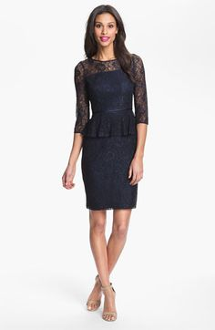 Adrianna Papell Peplum Lace Sheath Dress  - perfect balance