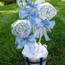 Baby Shower Burp Cloth Bouquet