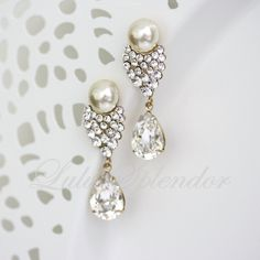 bridal jewelry pearls and crystals - Google Search