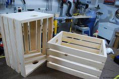 How to make a storage crate or apple crate. Crates can be made with just a couple boards, and can be used for many purposes.