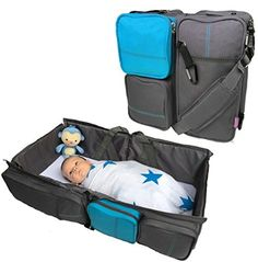 Boxum 3 In 1 Portable Bassinet Diaper Change Station, Blu.