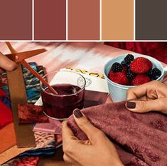 2015 Color of the Year-Marsala #pantone. These earthier colors will be easier to use for home decorating than the breezy palette Pantone projects.