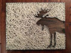 Moose String Art 11.5in X 14in by DIYCraftsStore on Etsy