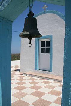 Greek church, Kos Only in Greece do you get such white and blue. Greece Kos, Greece Islands, Santorini, Mykonos, Corfu, Crete, Albania, Beautiful World, Beautiful Places