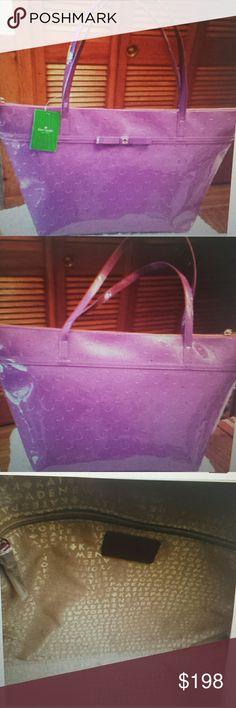 I just added this listing on Poshmark: Kate Spade NWT Purple Camellis Tote. #shopmycloset #poshmark #fashion #shopping #style #forsale #Kate Spade #Handbags