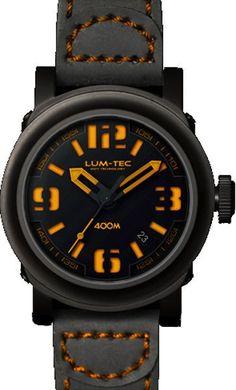 Lum-Tec Watch - Abyss 400M -400M-4 (42Mm) Automatic Men Black Strap Brown Stitch