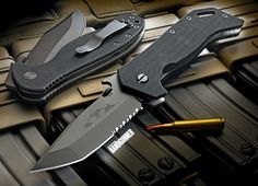 Emerson Knives sets the standard when it comes to tactical blades. Pictured: ETAK.  Click now: http://americanhandgunner.com/modern-day-patriot/
